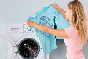 пране на тениска с щампа