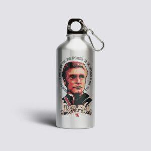 метална бутилка сива с илюстрация на левски чрвен