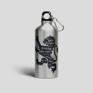метално шише с лъвче и химн метален цвят