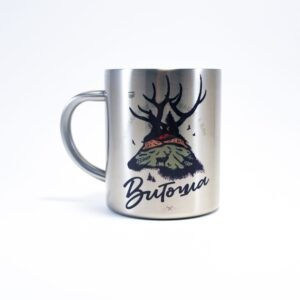термо чаша метал с елен