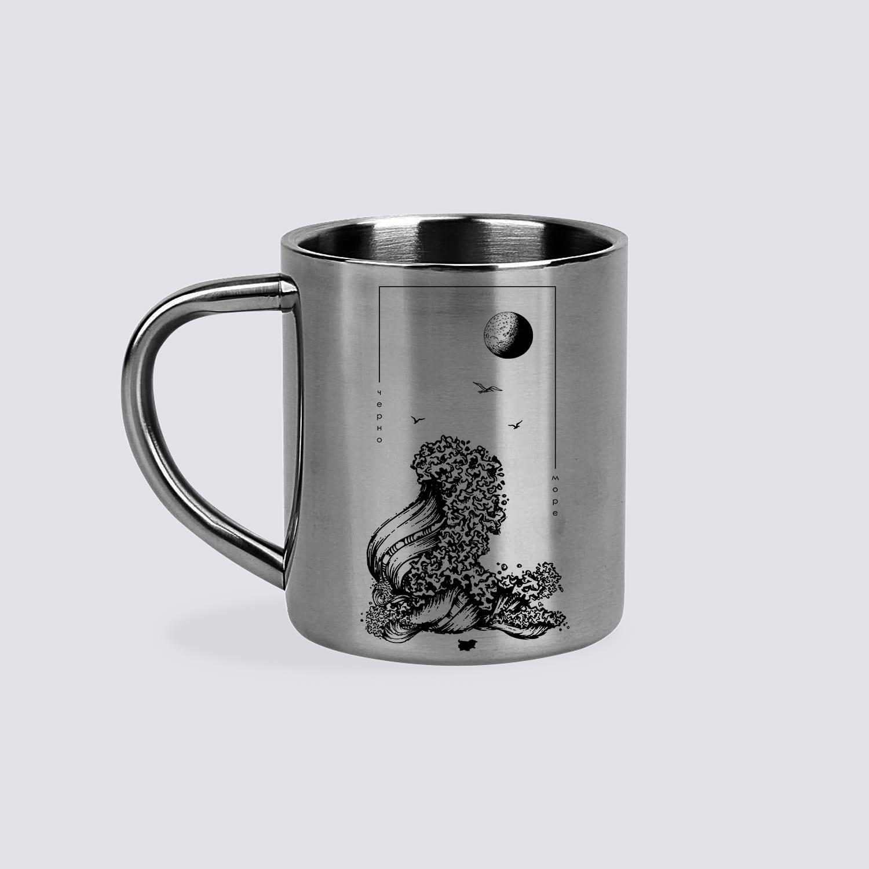 море метални чаши