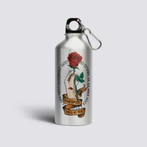 бутилка-от-метал-с-роза